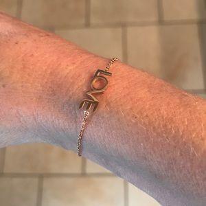maya Brenner Jewelry - Gold Love bracelet